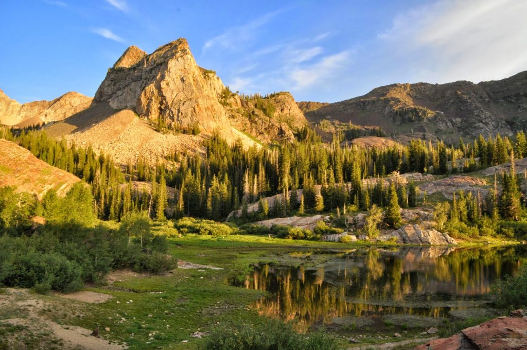 Mountain Landscape of Lake Blanche